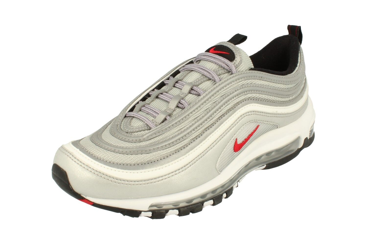 38b1cf17e6 Nike Air Max 97 OG QS Silver Bullet Metallic/red Size 10.5 Shoes ...