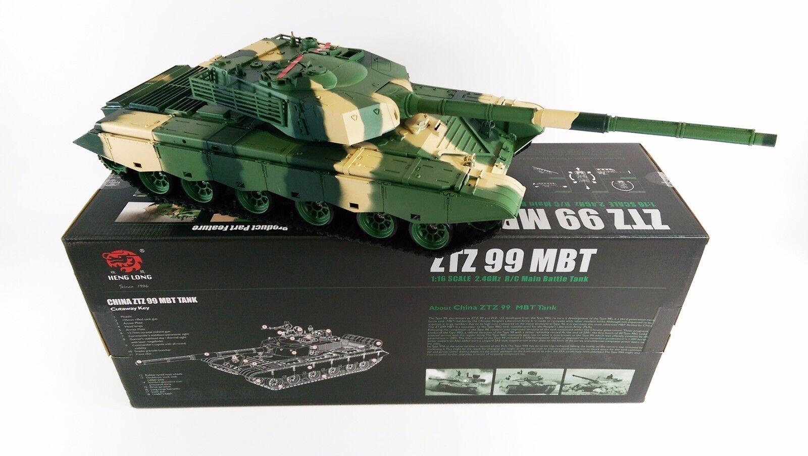G99 1   16 RTR RC modeloo juguete tanque 2.4 GHz humos acústicos bb 3899 - 1