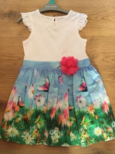 Girls Pretty Spring Time Meadow Butterfly Flowers Brand New 1-1.5 1.5-2  2//3 3//4