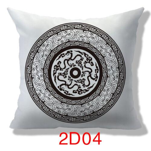 Multi-color Special Pattern Car Sofa Waist Cushion Cover Pillow Case Home Decor