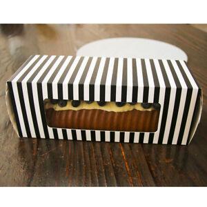 Image Is Loading 50pcs Swiss Roll Brownie Tray Long Cake Box
