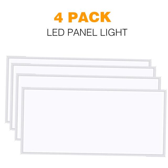 2 Pack 2x4 FT 60W LED Panel Light 0-10V Dimmable 7800 Lumens 5000K Daylight