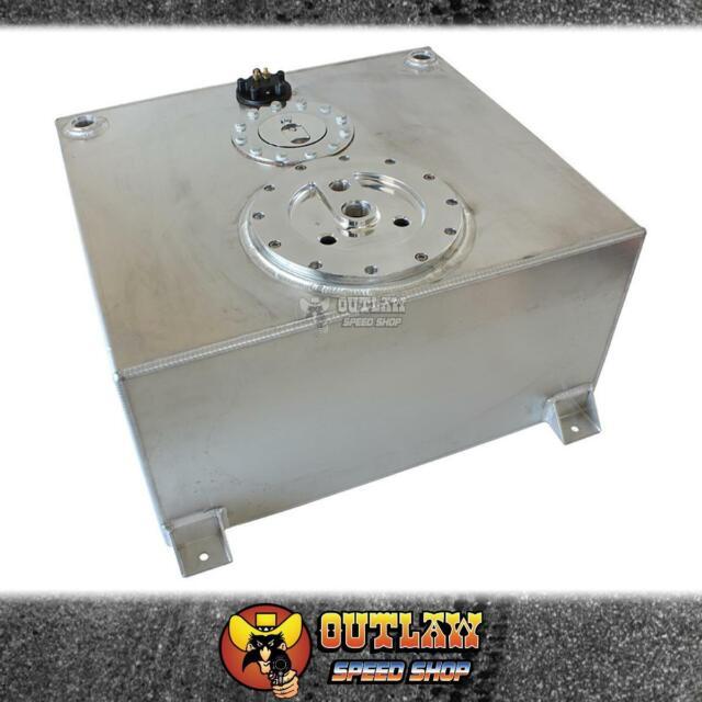 AEROFLOW ALUM FUEL CELL 57L 3 X 40MM PUMP HGR & FUEL SENDER SILVER - AF85-4051AS