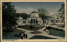 Bad Oeynhausen Ravensberger Mulde AK 1924 gelaufen nach Bad Grund Badehaus Park