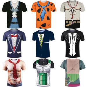 65e1bcf087 Women/Men Funny Costume Business Suit 3D Print Casual T-Shirt Tee ...
