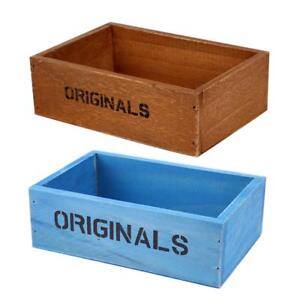 NEW-Handmade-Rustic-Antique-Storage-Vintage-Wooden-Boxes-Crates-Trugs-Organizer