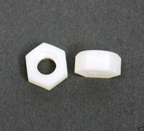 100pc Nylon 66 Plastic Nut PN-6N M6 pitch=1.0mm M6x1.0 M6x1 KSS Taiwan *