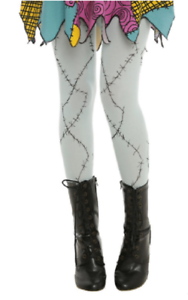 NIGHTMARE-BEFORE-CHRISTMAS-SALLY-COSTUME-WEAR-QUALITY-TIGHTS-LADIES-JUNIORS-SIZE