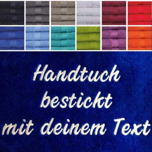 BESTICKEN MIT WUNSCHTEXT Gästetuch+Handtuch+Duschtuch alle m Namen bestickt NEU