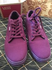 Vans Off the Wall Era Port Royale Burgundy Red Shoes Canvas Mens 5 Womens 6.5