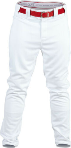 Rawlings Plated Piped Pro150P Baseball Pants Adult Men/'s White w//Scarlet Lge QTY