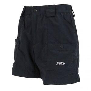 Aftco m01 original fishing shorts 16 length black for Aftco original fishing shorts