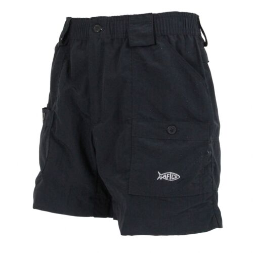 "Black 16/"" Length Free Shipping AFTCO M01 Original Fishing Shorts"