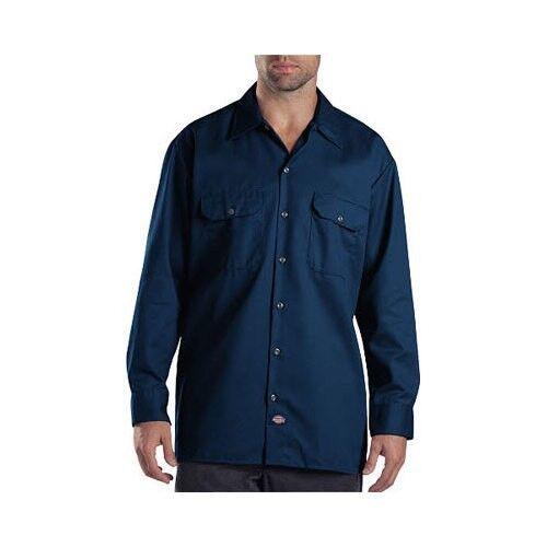 Dickies Long Sleeve Work Shirt Men S Casual Regular Fit M Dark Navy