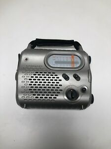 Radio-Shack-AM-FM-Shortwave-Band-Emergency-Crank-Radio-Silver-Model-20-238
