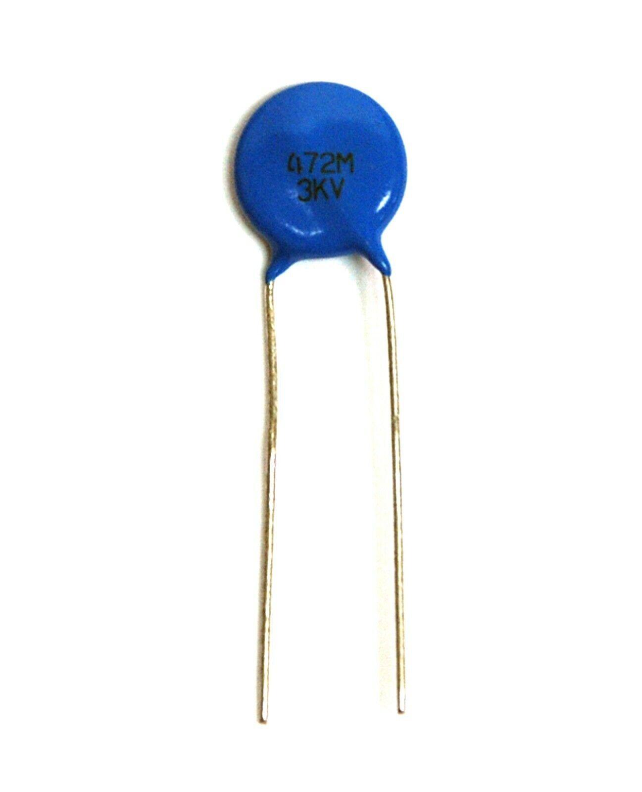 20pc Disc Ceramic Capacitor 472M 3KV 4700pF 0 0047uF ±20% M