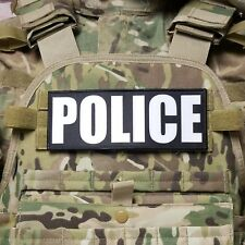"3x8/"" POLICE K9 UNIT Black Grey Tactical Hook Plate Carrier Morale Raid Patch"