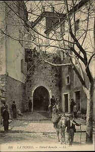 La-Turbie-Cote-d-Azur-Frankreich-AK-1910-Portrail-Romain-Roemertor-Portal-Native