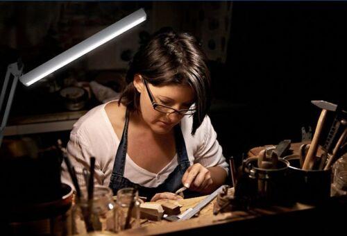 US LED Long Swing Arm Desk Lamp W Clamp Metal Architect Adjustable light reading