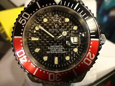 Invicta 17996 Sea Base 24 Jewel Auto Carbon Fiber Dial S/S Bracelet Watch NEW!!