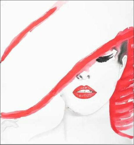 Details about  /Studio b show original title woman with was a stretcher-image screen woman hat fashion red