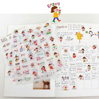 6sheets My Little Friend Sticker Kawaii Paper Stickers for Kids Decoration QW