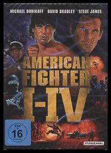 DVD AMERICAN FIGHTER BOX - 1 + 2 + 3 + 4 - MICHAEL DUDIKOFF + DAVID BRADLEY *NEU