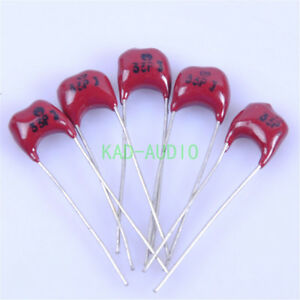 5pcs-Radial-Sliver-MICA-33pF-500V-Capacitor-Amp-for-Guitar-Amplifier-Radio