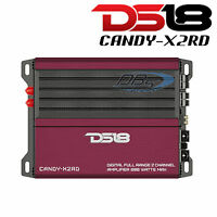 DS18 CANDY-X2RD 2-Channel Car Stereo Amplifier 800W Max Fullrange Class D Amp