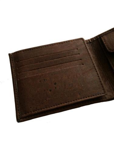 Gift cork wallet man men photo holder coins Portuguese brown portugal 8 cards