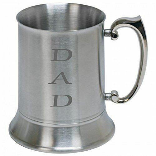 Personalised Engraved DAD Stainless Steel Tankard st52