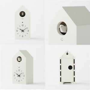 New-MUJI-Mechanical-cuckoo-Wall-or-put-clock-White-Japan-light-sensor-from-Japan