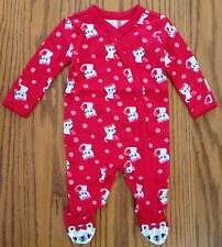 NWT Gymboree Cozy Kitty Footed On-Piece Red Sleeper Pajamas PJs size 3-6M New