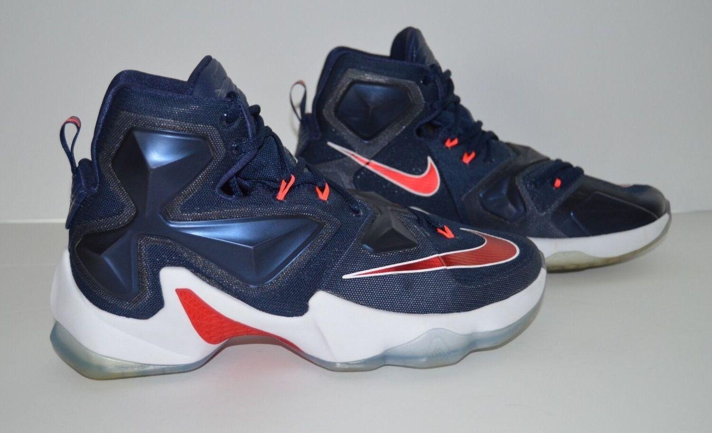 Nike LeBron James XIII 13 USA Basketball Shoe - Men's Size 7.5 - Blue White Red