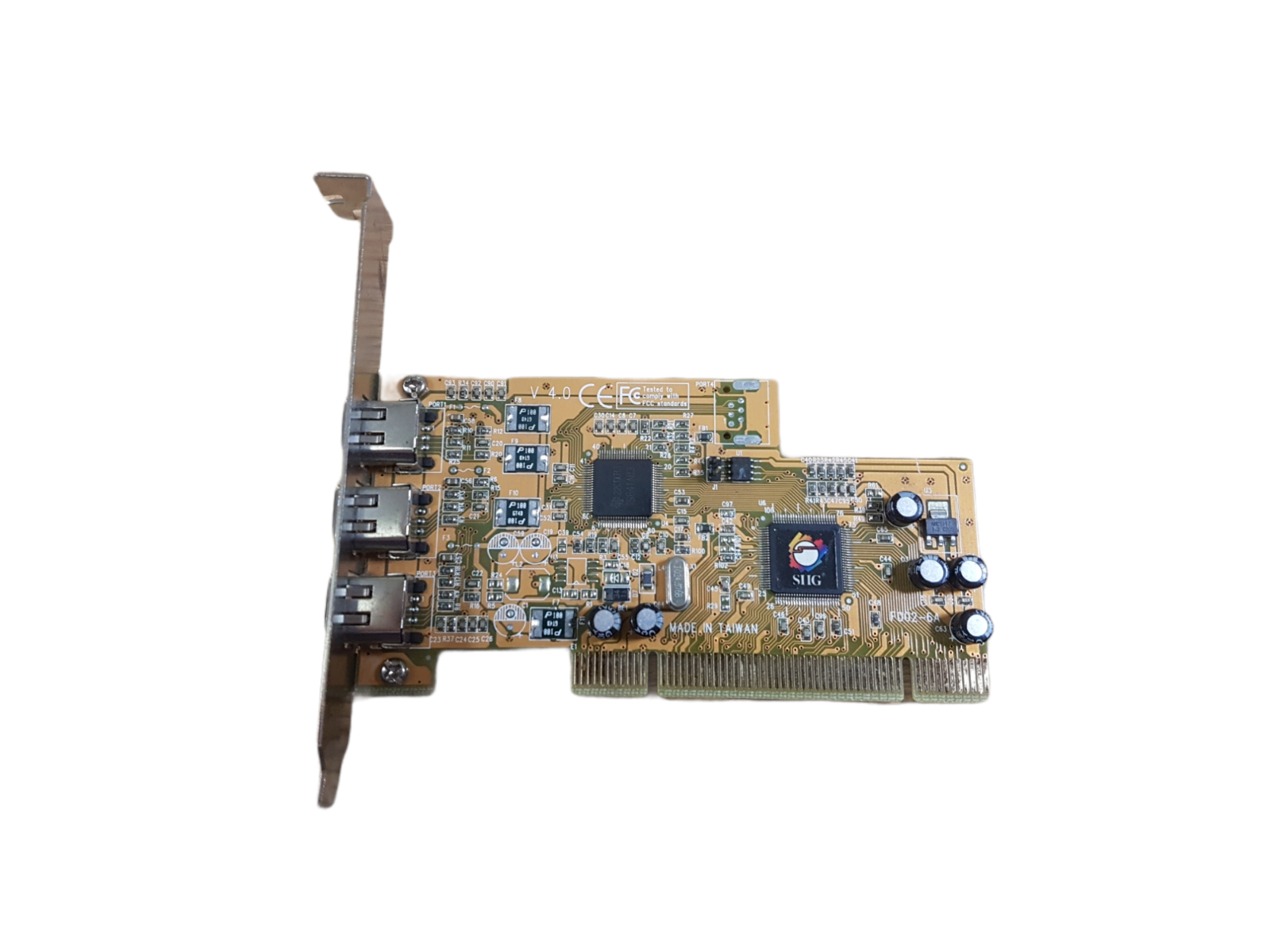 SIIG F002-6A 3-Port PCI FireWire Adapter Card Tested Working