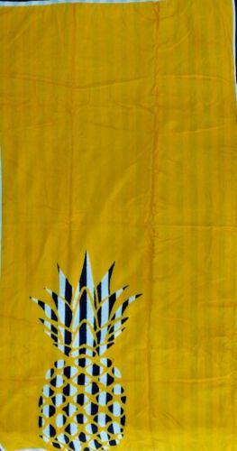Ananas Jaune Blanc Marine Jumbo Serviette de plage 100/% Coton Égyptien 90 cm x 170 cm