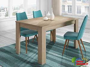 Tavolo cucina salotto allungabile 6 posti design moderno colore ...