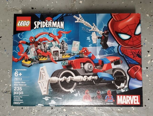 76113, 235 Pieces Spider-Man Bike Rescue Building Kit LEGO Marvel Spider-Man