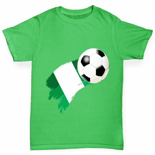 Twisted Envy Nigeria Football Flag Paint Splat Boy/'s Funny T-Shirt