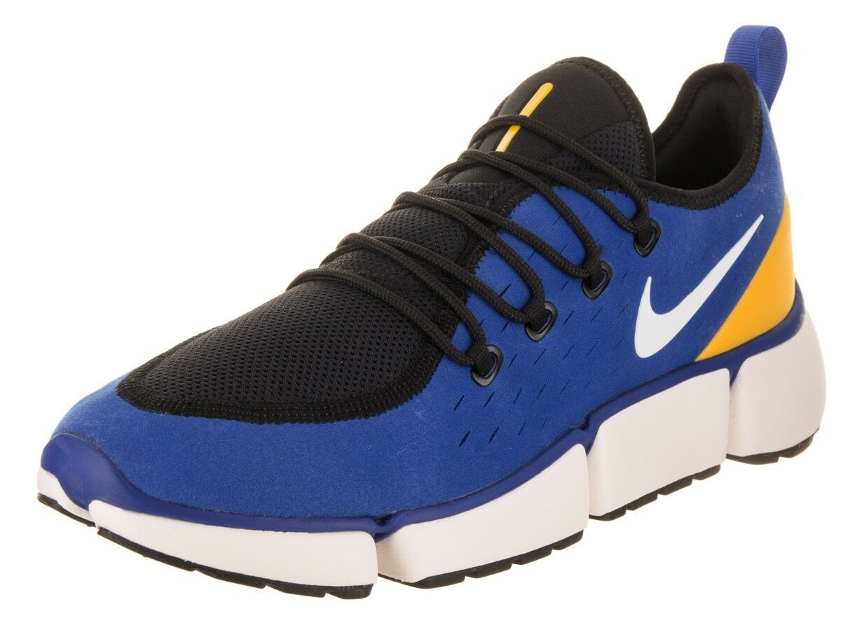 Mens Nike Pocket Fly DM bluee White Yellow AJ9520 402 Running