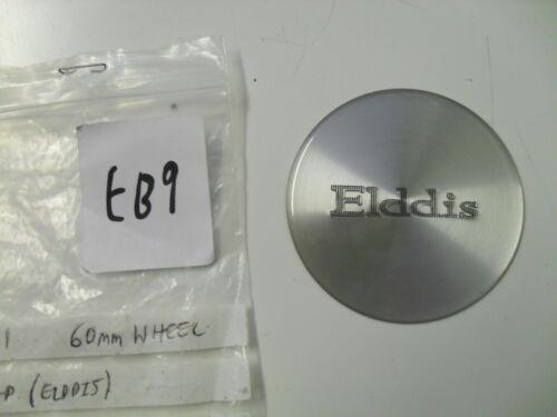 Elddis alloy wheel centre cap caravan silver circular badge 60mm EB9