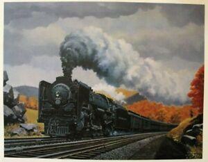 Howard-Fogg-New-York-Central-3014-Print-15x17-New-4-8-2-Mohawk-1940-039-s