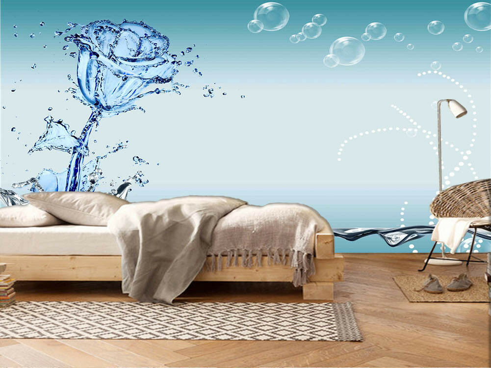 Royal Crystal Lily 3D Full Wall Mural Photo Wallpaper Printing Home Kids Decor