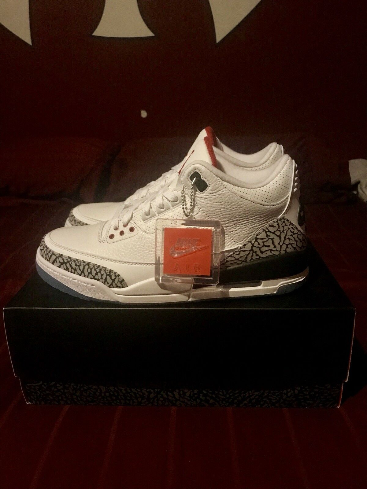 Nike Air Jordan Retro 3 Free Throw Line White Cement size 10.5 DS