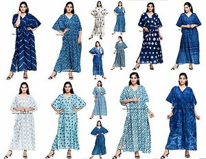 5247bd621c0be Details about NEW Indian Kaftan Boho Hippy Plus Size Caftan Dress Beach  Cover Up FREE SHIPPING