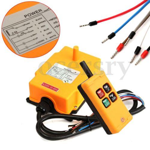 HS-4 220VAC 433MHz Funkfernsteuerung Steuerung Sender für Kran Baukran