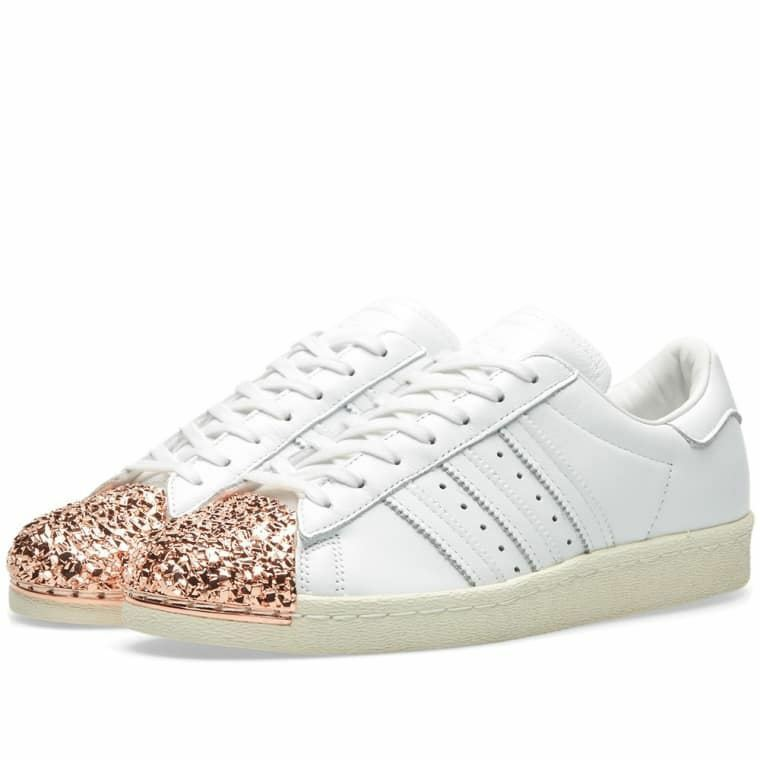 Adidas Originals femmes  Superstar 80s 3D MT Rose Gold Trainers blanc (BB2034)