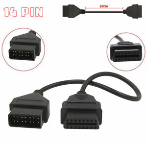 Details about For Nissan14 Pin 14Pin Consult Plug to 16Pin Female For 14Pin  Interface Auto Car