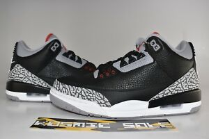 "06d49b669b31ac Nike Air Jordan 3 Retro ""Black Cement"" 2018 Style   854262-001 Size ..."