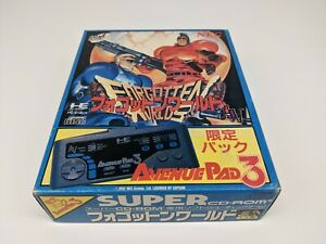 PC-Engine-Super-CDrom2-Forgotten-Worlds-Sp-Pack-w-Controller-Japan-Import